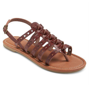 Mossimo Lori Open-Toe Galdiator Sandals, Brown